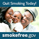 Quit smoking today! We can help. Visit smokefree.gov